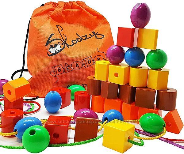 Набор для сортировки Цветные фигуры 36 шт от Skoolzy Фигурки