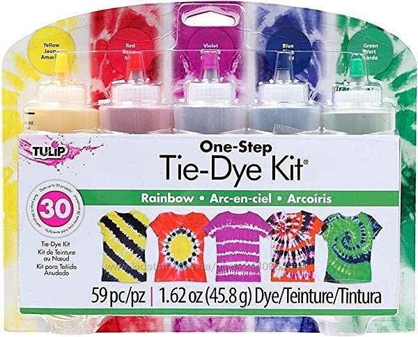 Tulip One-Step 5 Цветные наборы для одежды Rainbow, 1,62 унции Набор красок