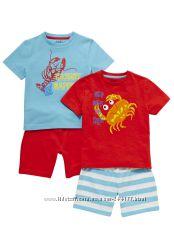 Набор из 2 штук красивеньких пижамок на мальчика, Англия