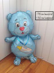 Воздушный шарик Мишка на выписку с роддома, рождение мальчика, ребёнка