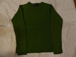Шерстяной теплый зеленый свитер zara