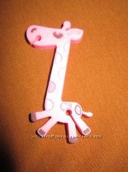 органайзер для наушников, розовый жираф