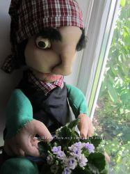 Аурэлиано. ручная авторская работа. скульптурный кукляш.