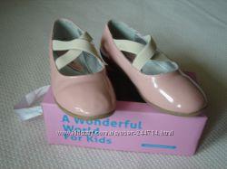 Детские лаковые розовые туфли Little Blue Lamb