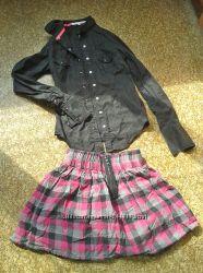 Дешево юбка  рубашка р-р 152-156