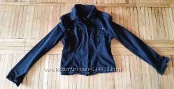 Черный джинсовый пиджачок