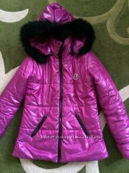 Куртка зимняя с капюшоном копия Moncler 44-46