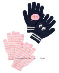 Яркие перчатки OshKosh и Carters для девочек и мальчиков
