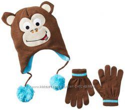 Комплекты шапка, перчатки для мальчиков 2-10 лет, Америка