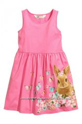 Летние хлопковые платья H&M на девочек 4-8лет