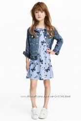 Летние хлопковые сарафаны H&M на девочек 4-10лет