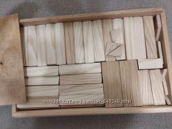 Деревянный конструктор, плашки, 130деталей