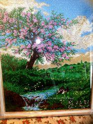 Большая картина ручной работыполная вышивка бисеро