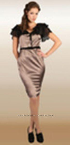 красивенное новое платье атласшифон  рЛ