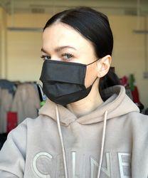Медицинская защитная маска чёрная
