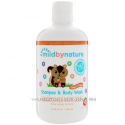 Mild By Nature, Органика Детский шампунь без слез с запахом персика 380мл