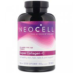 Neocell, Супер коллаген  C, тип 1 и 3, 6000 мг, 250 таблеток  Super