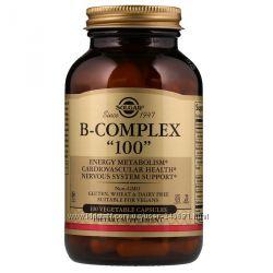 Solgar, B-комплекс 100, 100 растительных капсул