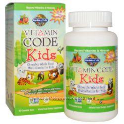 Garden of Life, жевательные цельнопищевые мультивитамины для детей 60 шт