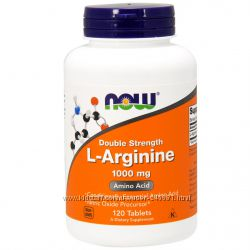 Now Foods, L-аргинин, незаменимая аминокислота  1000 мг, 120 таблеток
