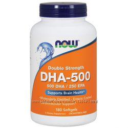 Now Foods, ДГК-500 ЭПК-250, двойной концентрации, 180 мягких таблеток