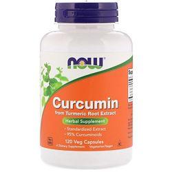 Now Foods, Куркумин, 120 растительных капсул