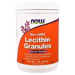 Now Foods, Лецитин в гранулах, не содержит ГМО, 454 г