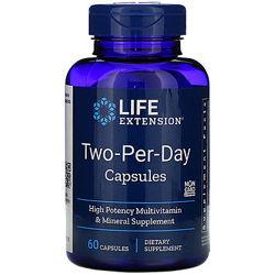 Life Extension, мультивитамины для женщин и мужчин Two-Per-Day  60 капсул