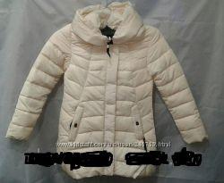 куртка зимняя, Холлофайбер р-ры 42-52, бежевая,