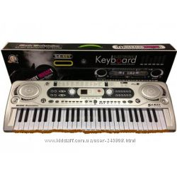 Дропшиппинг, детский синтезатор MQ 806 USB, 824usb, 020 с микрофоном,