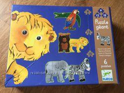 Djeco пазл на 6 отдельных картинок-животных