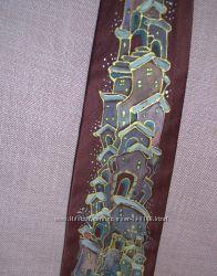 Продам галстуки Шёлковые цвета-бордо с ручной росписью