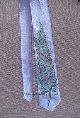 Продам галстуки из атласа с росписью