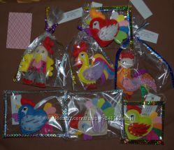 Игрушки из фетра для праздника, декора, как подвески, ручная работа