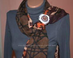 ЭксклюзивКольцо для шарфа, ручная работа, яшмамех