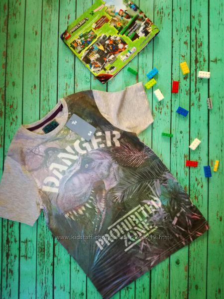 Стильная котоновая футболка с динозавром TU 9 лет