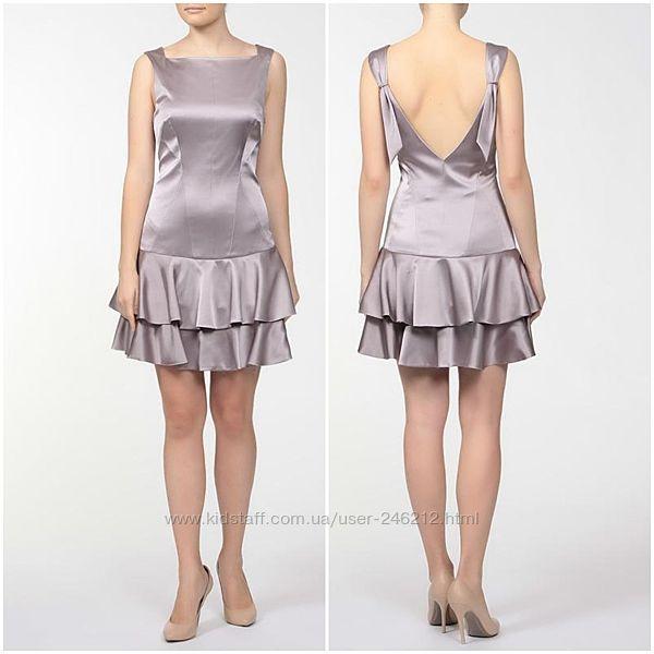 Скидка атласное изысканное платье от karen millen 44-46