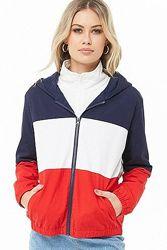 В стиле 90Х  блок колор куртка кофта ветровка Forever 21  SML
