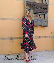 Шикарный атласный костюм Zara m-l-хl