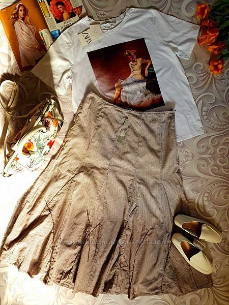 Sale Хлопковая юбочка M&S омбре  р.16 50