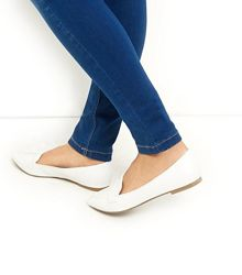 Sale Белые лоферы туфли  New look р.37
