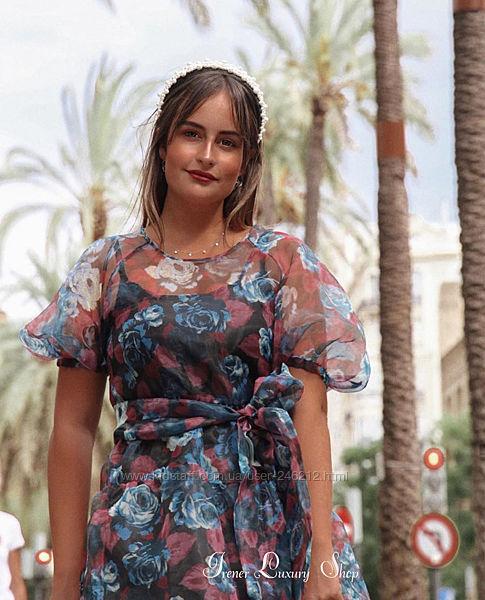 Шикарное платье из органзы Zara M/L