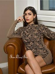 Жаккардовое платье Zara М/L