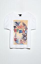 Хлопковая футболочка Zara Думба с рукавами фонариками  S/M или на подростка