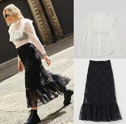Невероятно  ажурный комплект блуза и юбка Sandra Mansour x H&M  46-48
