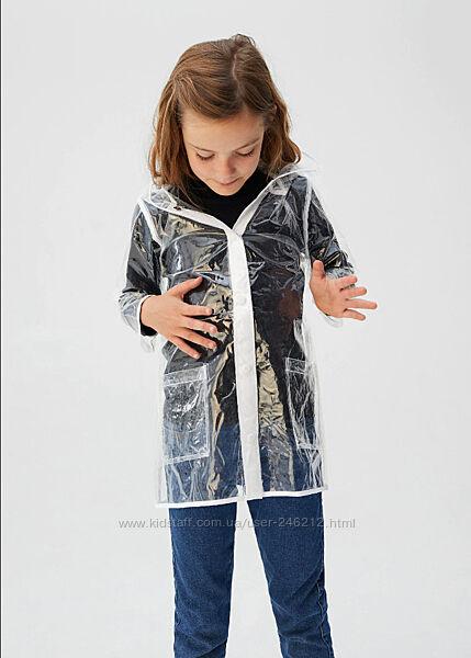 Прозрачная непромокаемая куртка / плащ /дождевик Mango 8-9-10 лет