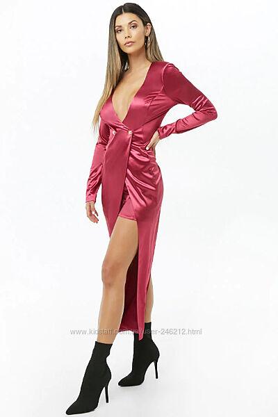 Роскошный атласный костюм Forever 21 шорты и пиджак -кардиган S-M sale
