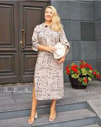 Длинное платье  рубашка  H&M лиоцелл 48-50-52