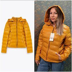 Кожаная стеганная курточка Zara  L-ХL