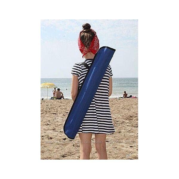 Зонт пляжный антиветер d2.0м с треногой, колышками и веревкой.